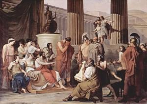 Odysseus and Demodocus